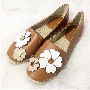 Michael Kors   Flower Leather Espadrille Flats